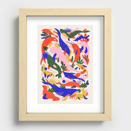 Whales Vertical Recessed Framed Print