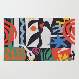 inspired to Matisse (black) Rug