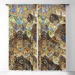 Tile Mosaic Ceiling Entrance Door, Nasir-al-Molk Mosque, Shiraz Blackout Curtain