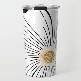 Black and White Blossom Travel Mug