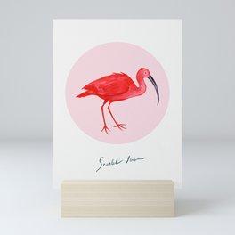 Scarlet Ibis Mini Art Print