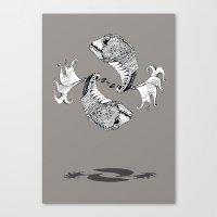 pisces Canvas Prints featuring Pisces by Sopta