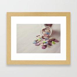 Need Buttons? Framed Art Print