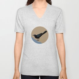 Great-tailed Grackle Unisex V-Neck