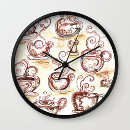 Coffee chatter Wall Clock