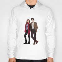 karen hallion Hoodies featuring Matt Smith as Dr Who and Karen Gillan as Amy Pond by liamgrantfoto