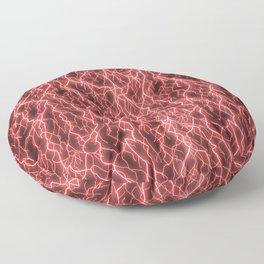 Crimson Storm Floor Pillow