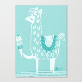 Alpaca Loves... Canvas Print