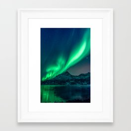Aurora Borealis (Northern Lights) Framed Art Print