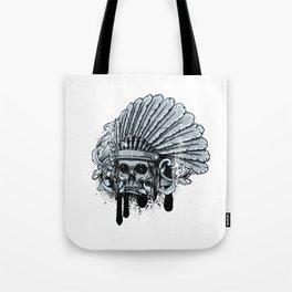 Chebeya Skull with Headdress Tote Bag