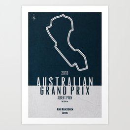 2013 Australian Grand Prix Art Print