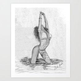 Dale's Indian Princess Art Print