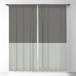Benjamin Moore 2019 Color of Year Metropolitan & Kendall Charcoal Gray Bold Horizontal Stripes Blackout Curtain