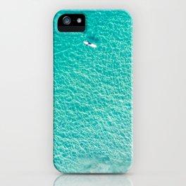 Aerial ocean surfers Manhattan Beach California iPhone Case