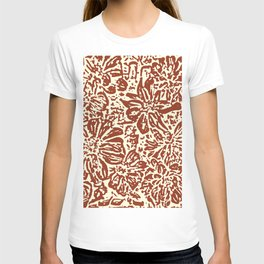 Marigold Lino Cut, Sepia T-shirt