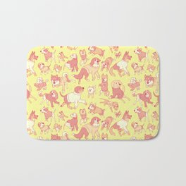 Dogs In Sweaters (Yellow) Bath Mat