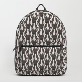 Cute brindle and white Greyhound Backpack