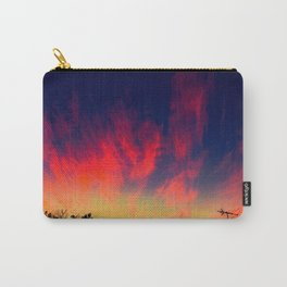 Sunset Clouds Pink Whisps Carry-All Pouch