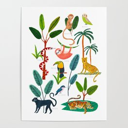 Jungle Creatures Poster