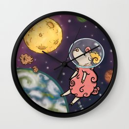 Space Sheep Wall Clock