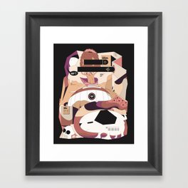 The search for my puppy Framed Art Print