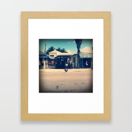 Crossing the Road Framed Art Print