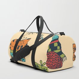 Happy New Year at Home Pattern Duffle Bag