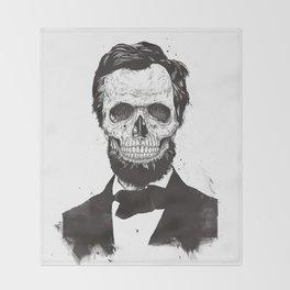 Dead Lincoln (b&w) Throw Blanket