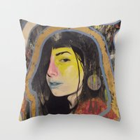 "indigo Throw Pillows featuring ""Indigo""  by Kazimir Simpson"