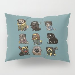 The Walking Pug Pillow Sham