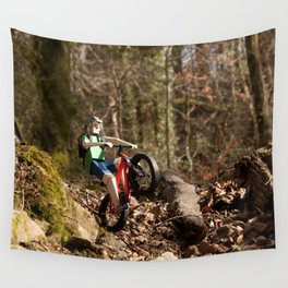 Where we're going we don't need roads Wall Tapestry