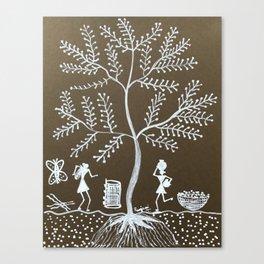 Warli - Tree Canvas Print