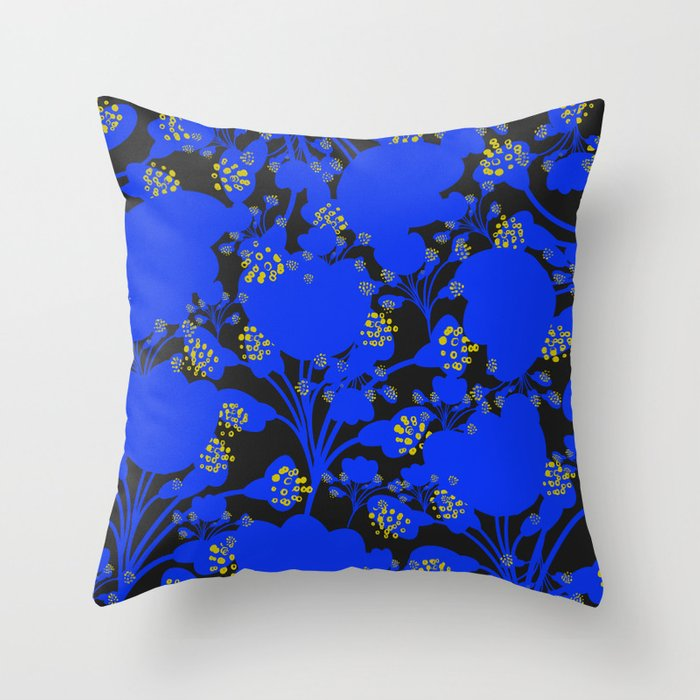 Imaginary Flowers X Throw Pillow