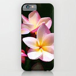 Love's First Blush Hawaiian Plumeria iPhone Case