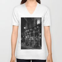 dublin V-neck T-shirts featuring The International Bar, Dublin by Biff Rendar