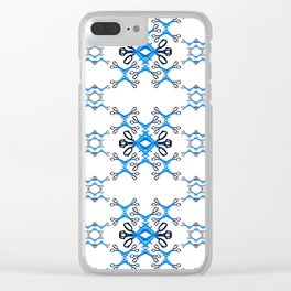 Shears on white Clear iPhone Case