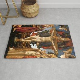 "Francesco Pesellino and Fra Filippo Lippi ""The Pistoia Santa Trinità Altarpiece"" Rug"