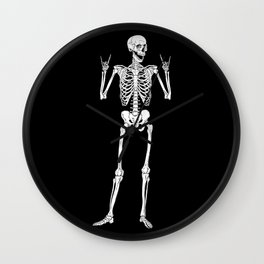 Metal and Rock and Roll Skeleton Wall Clock