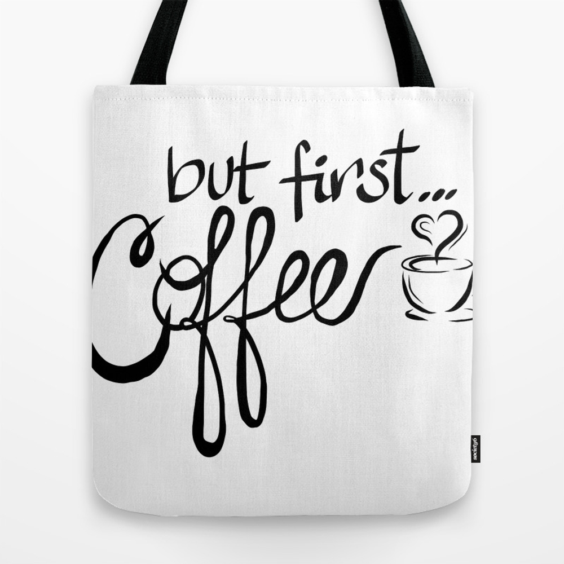 But First...coffee Tote Purse by Jojoandvangogh (TBG9883099) photo