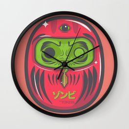 DARUMA DOLL ZOMBIE Wall Clock