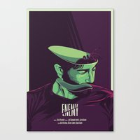movie poster Canvas Prints featuring Enemy - Alternative movie poster by FourteenLab