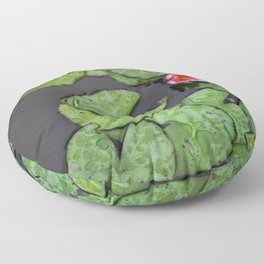 Afloat Lily Pad Nature Photograph Floor Pillow