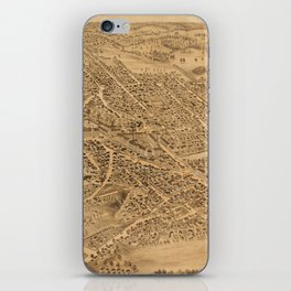 Vintage Pictorial Map of Dover NH (1877) iPhone Skin