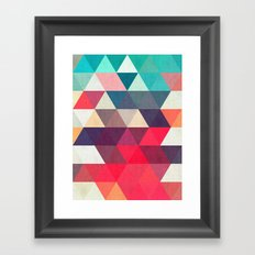 Art with cosmic triangles I Framed Art Print