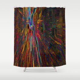 Re-Created Rapture 4 by Robert S. Lee Shower Curtain