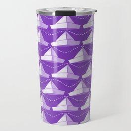 Paper Hats Pattern | Purple Travel Mug