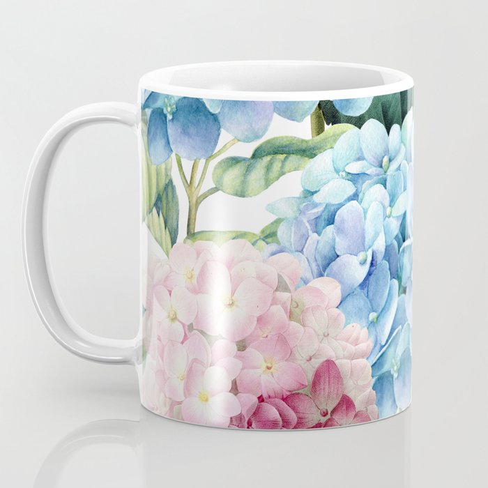 Pink Blue Hydrangea Coffee Mug