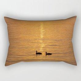 Ducks in the Sunrise Rectangular Pillow