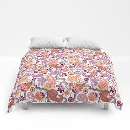 Pastel Paisleys Comforters