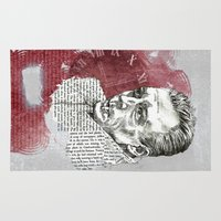 camus Area & Throw Rugs featuring Camus - The Stranger by Nina Palumbo Illustration